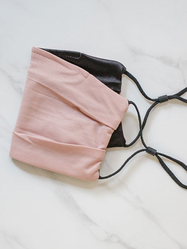Nude Pink Face Mask With Satin Lining