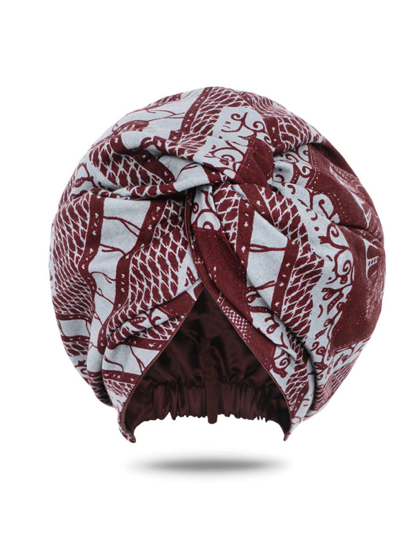African Print Turban | Turban for Women | Satin-Lined Turban