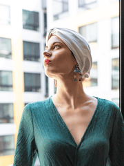 White Head Wrap Turban For Women