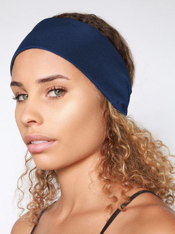 Satin-Lined Headband For Natural Hair | Yoga Headband For Women