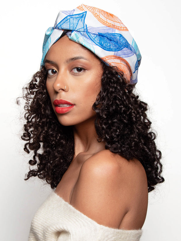 African Head Wrap For Women with Curly Hair