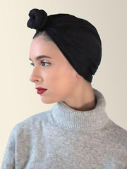 Black Pre-Wrapped Head Wrap For Women