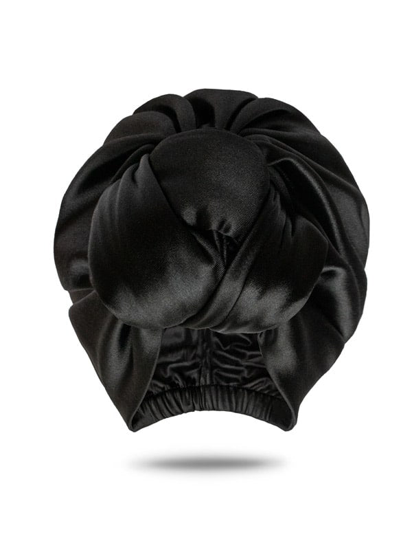 Black Satin Hair Wrap For Women