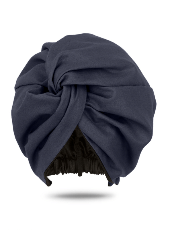 Black Dutch Wax Cotton Turban