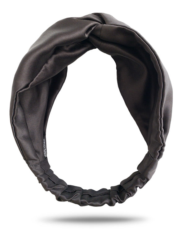 Black Satin Turban Headband