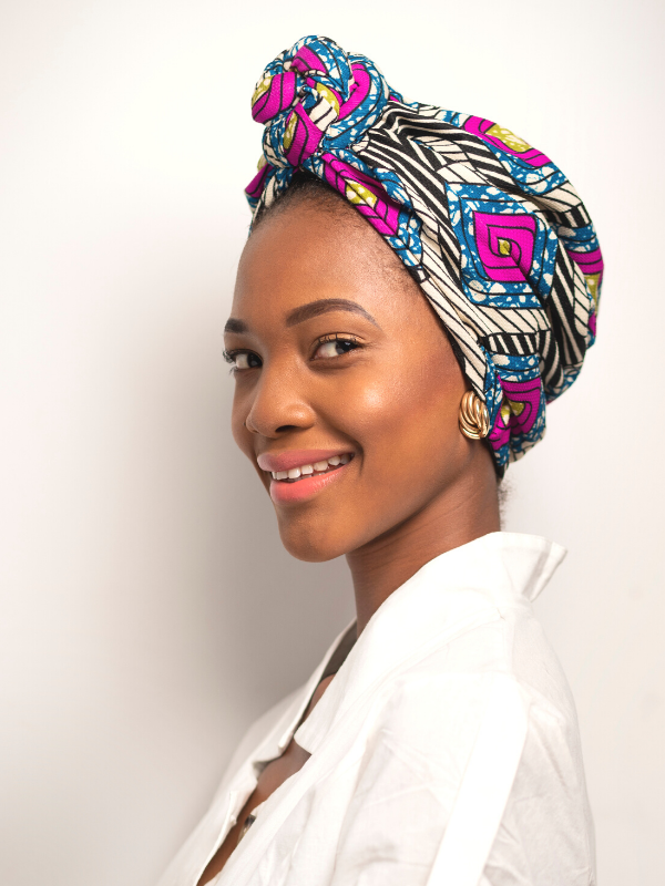 African Print Turban For Women