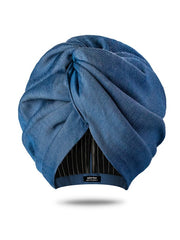 chambray denim classic turban