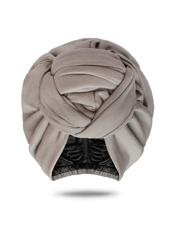 grey turban head wrap for women