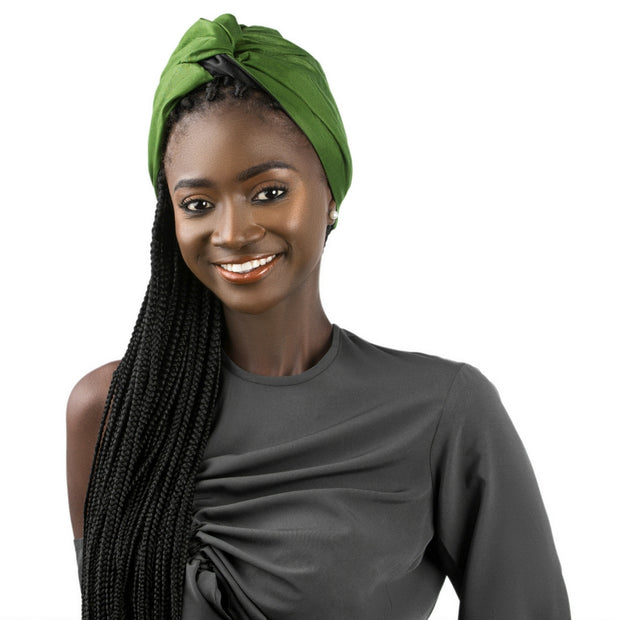 green head wrap turban
