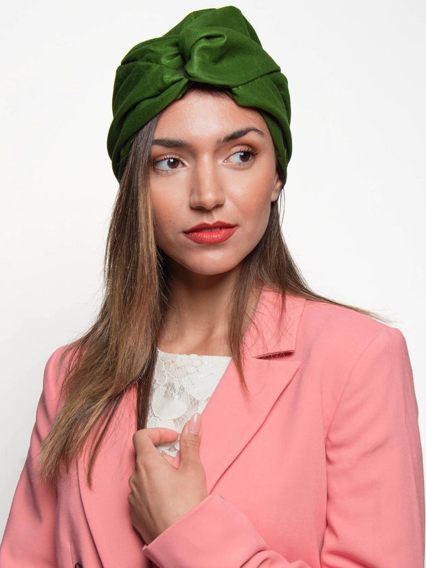 green-turban-hat