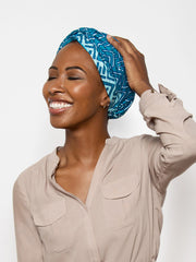 Lina Dutch Wax Satin Lined Turban