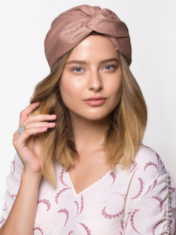 Mauve Pink Head Wrap Turban
