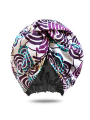 satin-lined turban for women