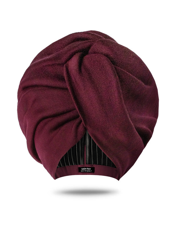 Deep Wine Burgandy Head Wrap For Women