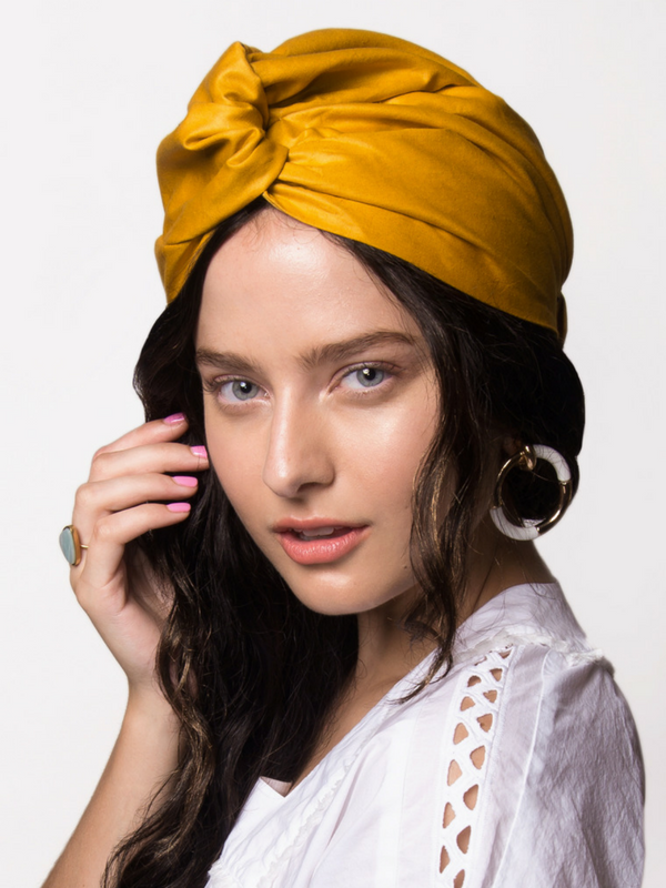 Mustard Osu Head Wrap Turban