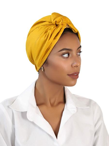 Mustard Yellow Turban For Women