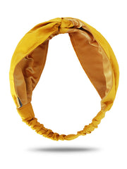 mustard yellow turban headband for women