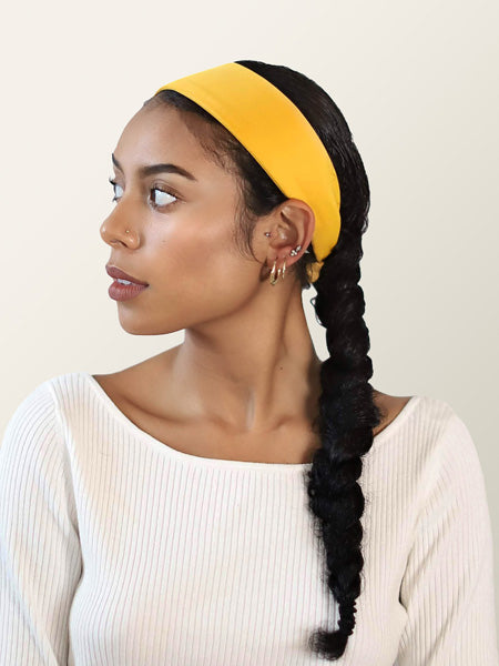 mustard yellow headband for women