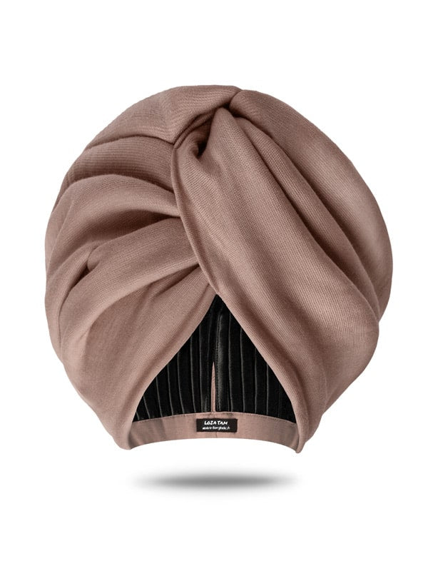 nude pink turban for women