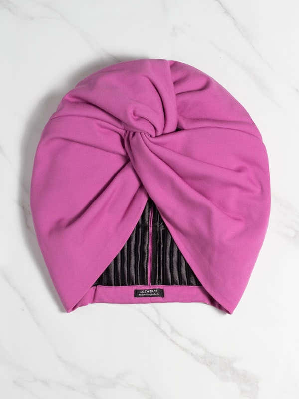 Orchid Pink Chemo Turban Hat 1