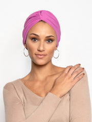 pink chemo headwrap turban for women