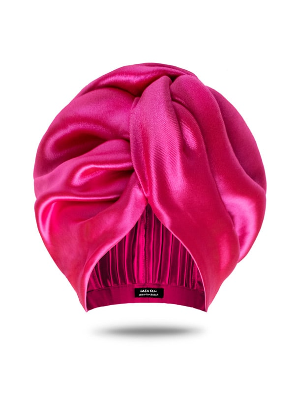 Pink Satin Hair Wrap