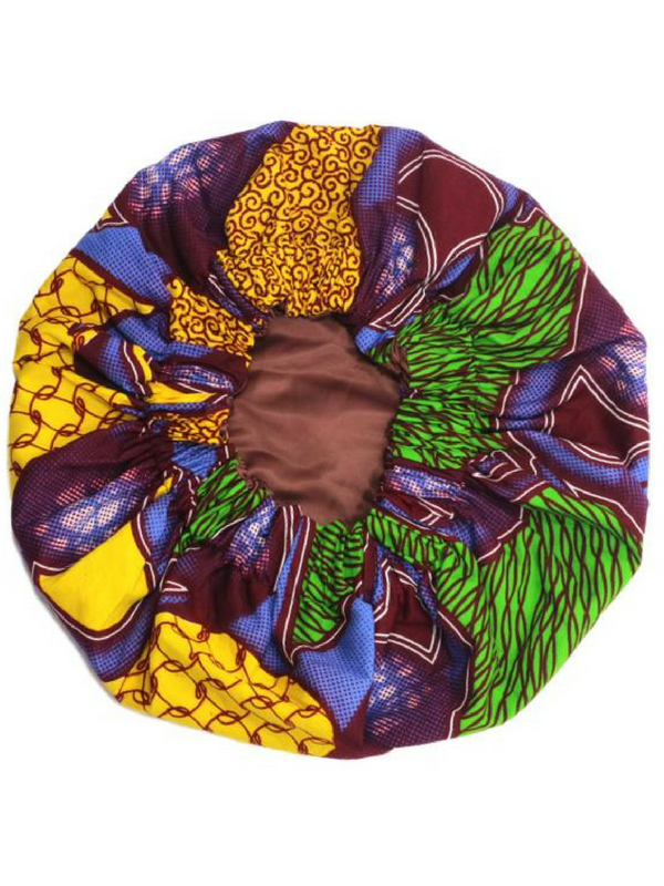 ankara print hair bonnet