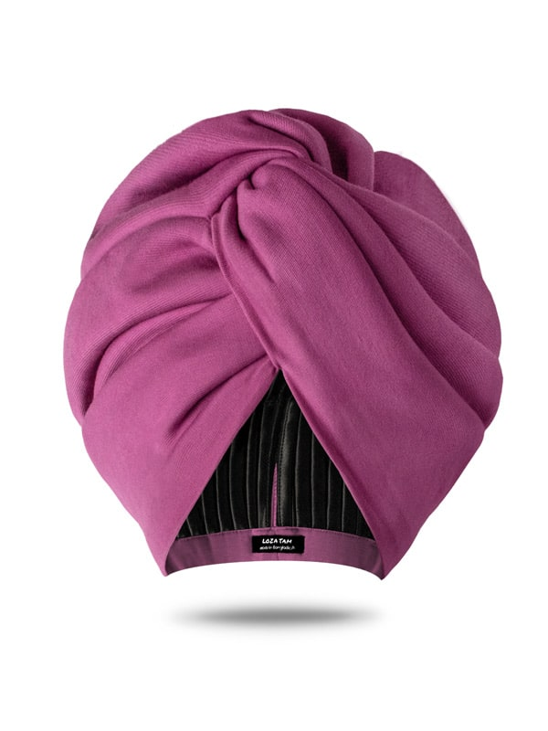orchid pink head wrap for women