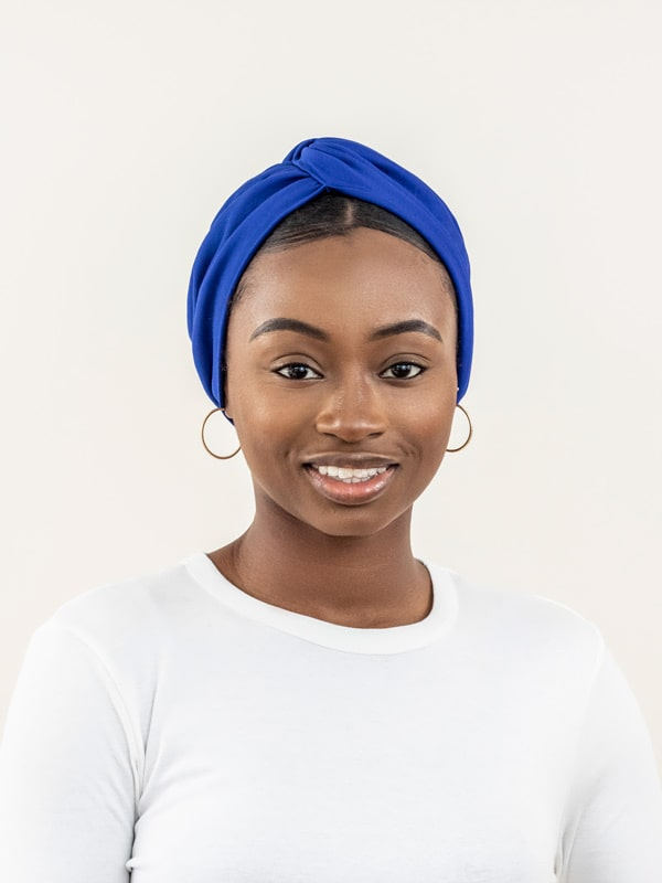 Royal Blue Turban For Women
