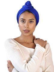 Royal Blue Head Wrap For Women