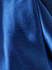 Royal Blue Fabric satin turban