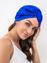 Royal Blue Satin Hair Wrap