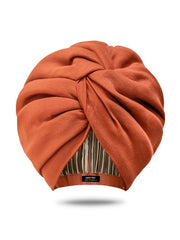 Satin-Lined Turban Hat