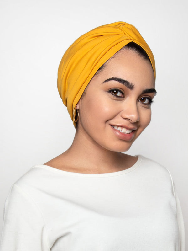 Saffron Turban Head Wrap