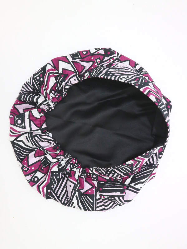 Geometric Satin-Lined Surgical Bonnet