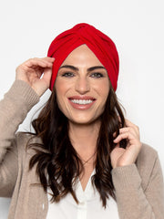 Scarlet Red Turban Hat