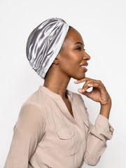 platinum silver women's head wrap