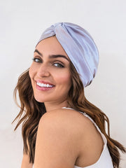 Platinum Silver Satin Hair Wrap
