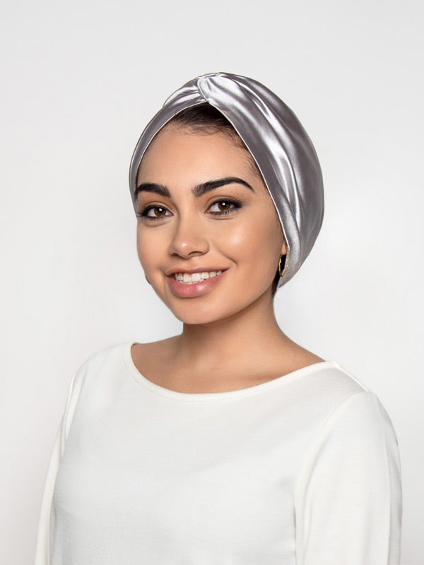 Silver Chemo Turban For Women