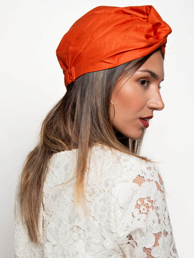 Orange Turban For Women