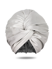 White turban head wrap for women