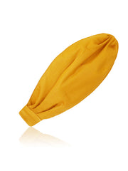 women's mustard yellow turban headband