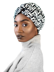 satin-lined head wrap | zebra print head wrap