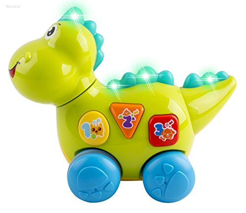 Talking Dinosaur Toy with Lights and Sounds for Kids - Teaching, Learning, Activity, Walking & Fun Action