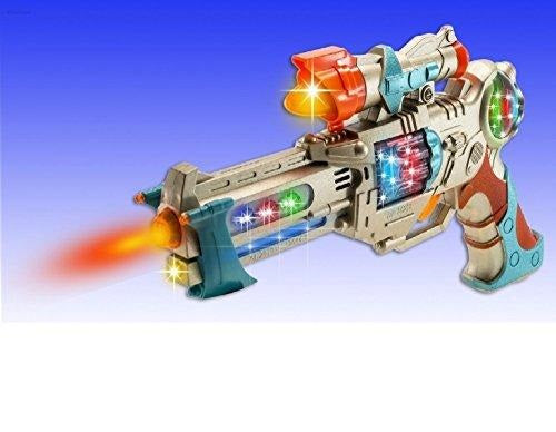 Kids Police Pistol Gun Toy for Boys with Action Lights and Sounds, Brightly Colored