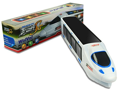 Beautiful 3D Lightning Electric Train Toy for Kids with Music, goes Around and Changes Directions on Contact
