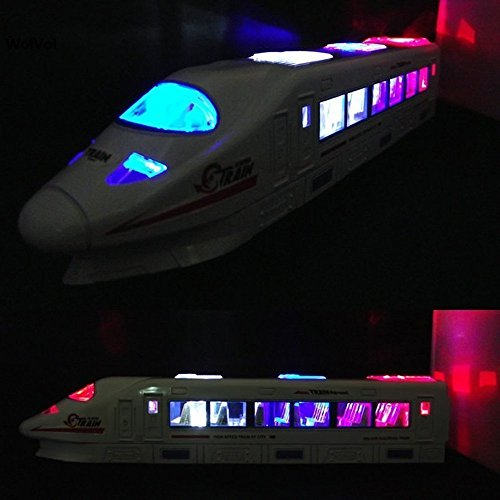 Bump & Go Action Electric Train Toy with Lights and Music