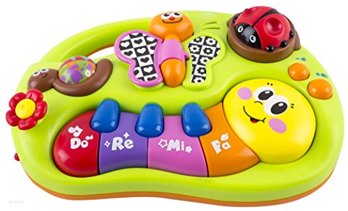 Toddler Toy Piano Keyboard Educational Infant Toy Activity Center, Music and Lights, Animal Sounds and Story