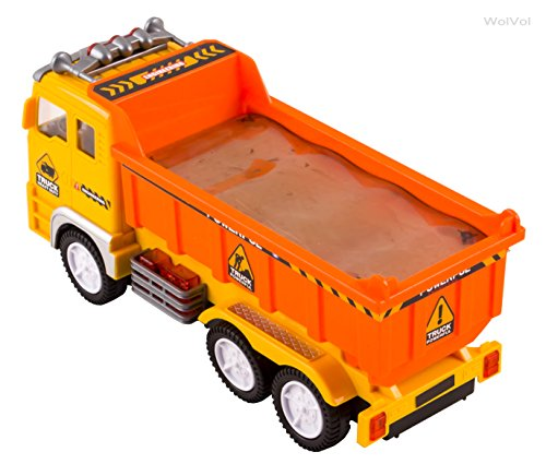 Electric Dump Truck Toy for Kids with Stunning 4D Flashing Lights and Sounds Music, Bump and Go Action Changes Directions on Contact