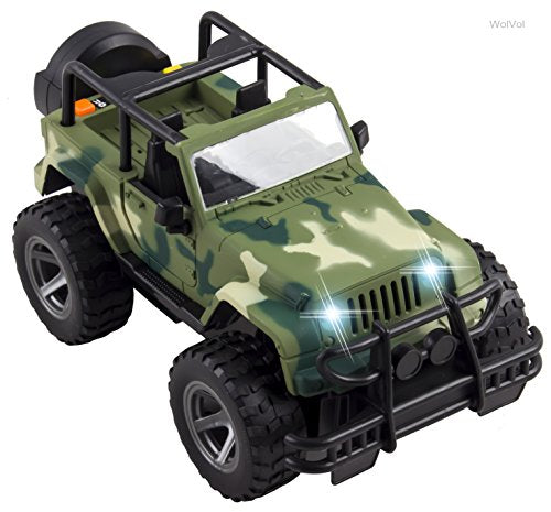 Off-Road Military Fighter Car Toy with Lights and Sound, Friction Powered, Can Open The 2 Doors
